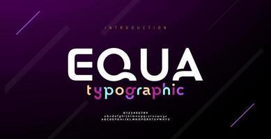 polices de l'alphabet abstrait minimal moderne. technologie de typographie, électronique, film, numérique, musique, avenir, police créative de logo. vecteur