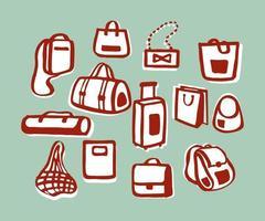 ensemble de vecteur de sacs à provisions