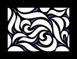 motif asymétrique dessiné à la main vecteur