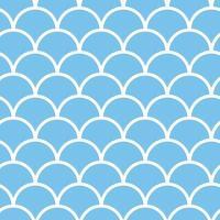 motif d'écailles de poisson sans soudure en toile de fond créative de vecteur de couleur bleue fond nautique marin avec des figures géométriques papier peint drôle pour le style de mode textile