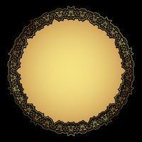 Cadre décoratif en or