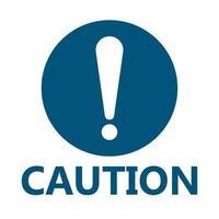 Icône de signe de mise en garde de symbole, point d'exclamation, icône dangereuse d'avertissement sur fond blanc vecteur