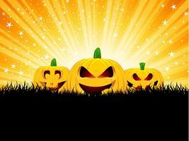 Citrouilles d'halloween vecteur