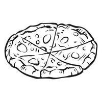illustration vectorielle abstraite délicieuse pizza ronde vecteur