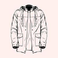 illustration vectorielle de manteau automne dessiné à la main vecteur