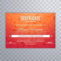Vecteur de modèle abstrait fond coloré certificat