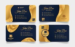 modèle de carte de visite élégante en or vecteur