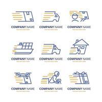 collection de logo de livraison vecteur