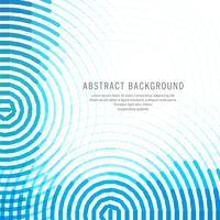 Arrière-plan de lignes circulaires bleues abstraites vecteur