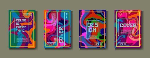 couverture de modèle de conception, affiche, ensemble de brochures. style rétro. format a4. vecteur eps 10