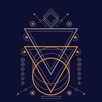 géométrie sacrée abstraite ornement illustration vectorielle dessinés à la main vecteur