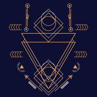 ornement abstrait de la géométrie sacrée pour le fond. vecteur eps10