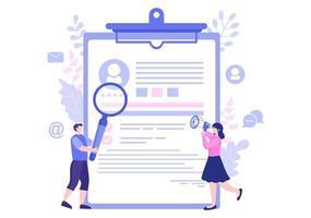 recrutement et recrutement en ligne pour la page de destination Web, la bannière, l'arrière-plan, la présentation ou les médias sociaux illustration vectorielle vecteur