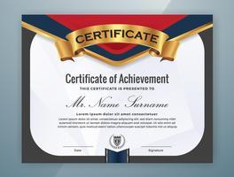 Conception de modèle de certificat professionnel polyvalent