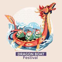 conception de célébration de festival de bateau dragon vecteur
