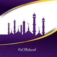 Conception de fond islamique Eid Mubarak vecteur