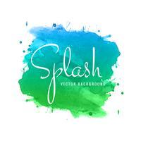 Design élégant splash aquarelle coloré vecteur