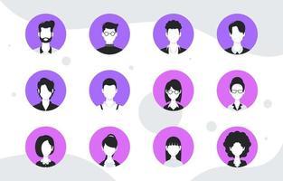 ensemble d & # 39; avatar de gens d & # 39; affaires vecteur