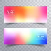 Set de bannières colorées abstraites vecteur