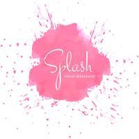 Design splash aquarelle rose élégant vecteur