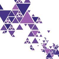 Vecteur de fond beau triangle coloré