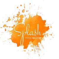 Dessin abstrait abstrait orange aquarelle splash vecteur