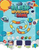 jeu de société pour enfants dans un modèle de style fantastique vecteur