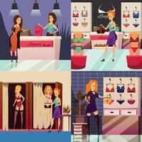 illustration vectorielle de lingerie boutique design concept vecteur