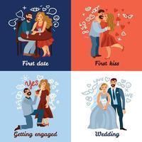 développement illustration vectorielle de relations amoureuses concept vecteur