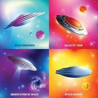 illustration vectorielle de vaisseau spatial extraterrestre design concept vecteur