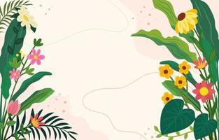 fond de fleurs et de feuillages vecteur
