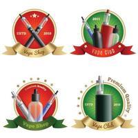emblèmes de magasin de vape mis en illustration vectorielle vecteur