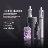 illustration vectorielle de cigarettes sans fumée vecteur