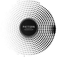 Impression de fond abstrait points circulaire vecteur