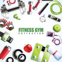 illustration vectorielle de fitness gym composition vecteur