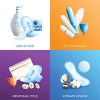 icônes de concept d & # 39; hygiène féminine définies illustration vectorielle vecteur