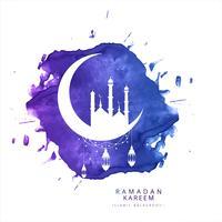 Carte de voeux Ramadan Kareem beau fond