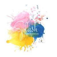 Belle conception de splash aquarelle colorée vecteur