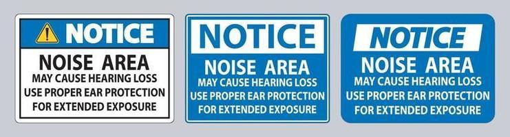la zone de bruit peut causer une perte auditive utiliser une protection auditive appropriée pour une exposition prolongée vecteur