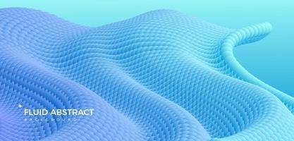 tendance moderne mode ondulation bleue fond abstrait dégradé fluide vecteur