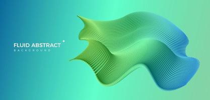 tendance moderne mode bleu vert ondulation fluide dégradé abstrait vecteur
