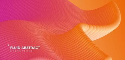 tendance moderne mode ondulation orange fond abstrait dégradé fluide vecteur