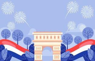 bastille day fête de la nation française vecteur