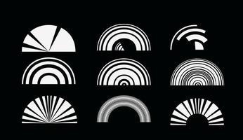 Élément de design vectoriel abstrait technologie rétro cercles.