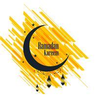 Carte de voeux Ramadan Kareem beau fond vecteur