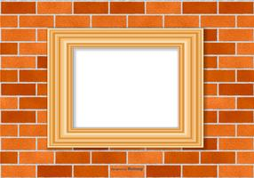 Cadre sur le mur de briques vecteur