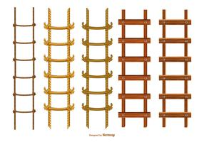 Collection d'échelles de vecteur