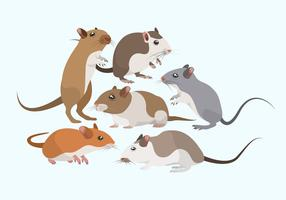 Collection de vecteurs souris rongeurs vecteur