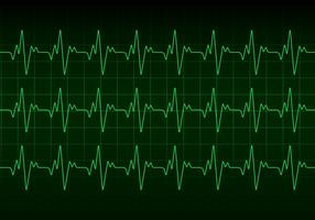 Vecteur de moniteur de battement de coeur