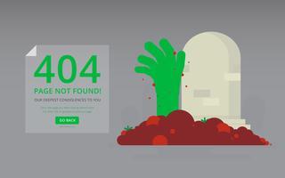 Erreur de 404 pages avec une figure amusante.